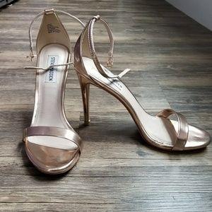 Steve Madden Rose Gold Heeled Sandals
